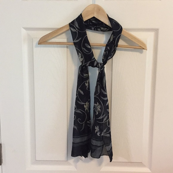 c0cfa0b1541 Navy and Cream Floral Scarf